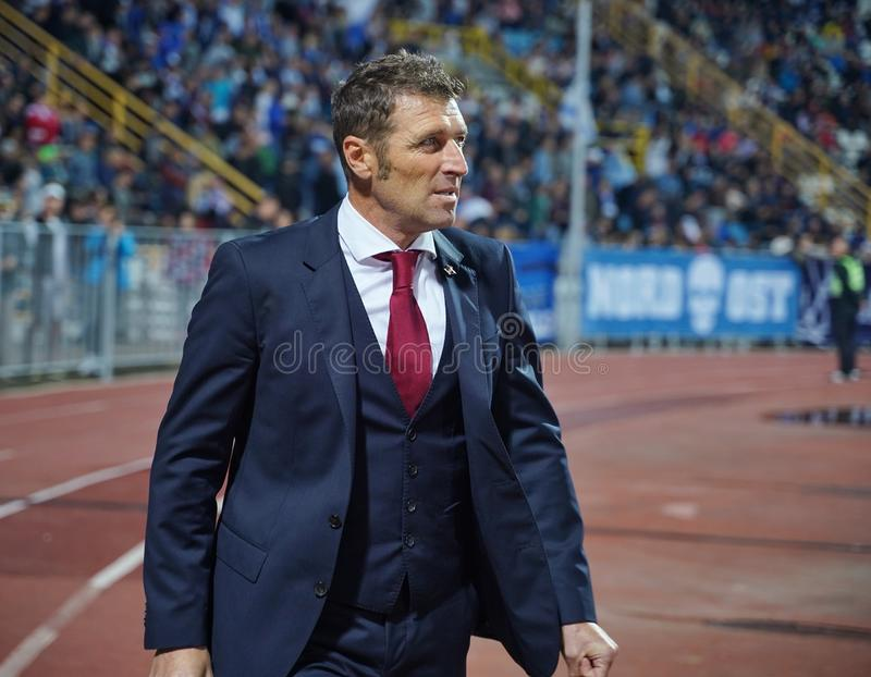 Massimo Carrera am Novorossiysk-Stadion am 26. September 2018 stockfotografie