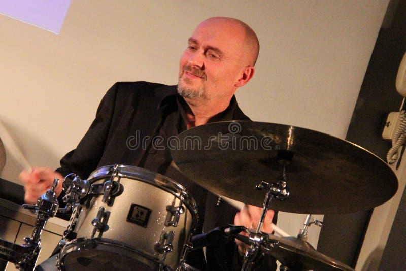 Massimo Ferri - Music jazz. Castellanza, Vares, Italy.15 november 2013: Jazz university Liuc in band Jazzlife Sextet end Gegè Telesforo stock photo