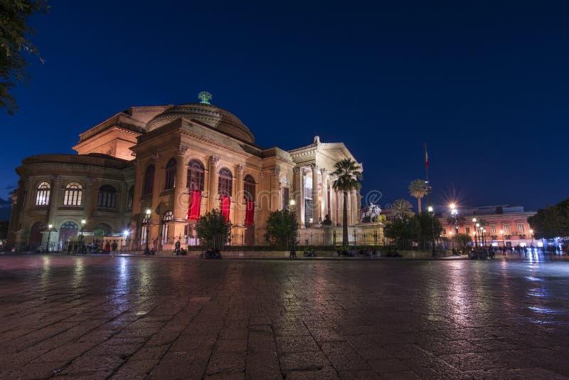 Massimo Theatre, Palermo imagem de stock