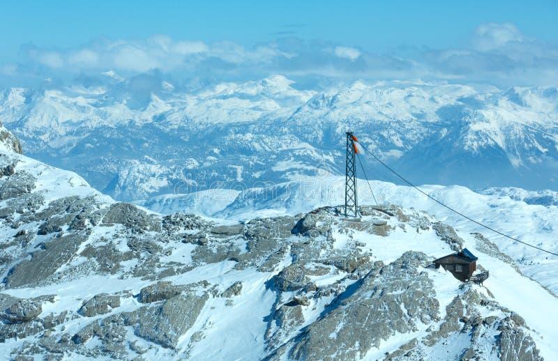 Massiv för vinterDachstein berg royaltyfri bild