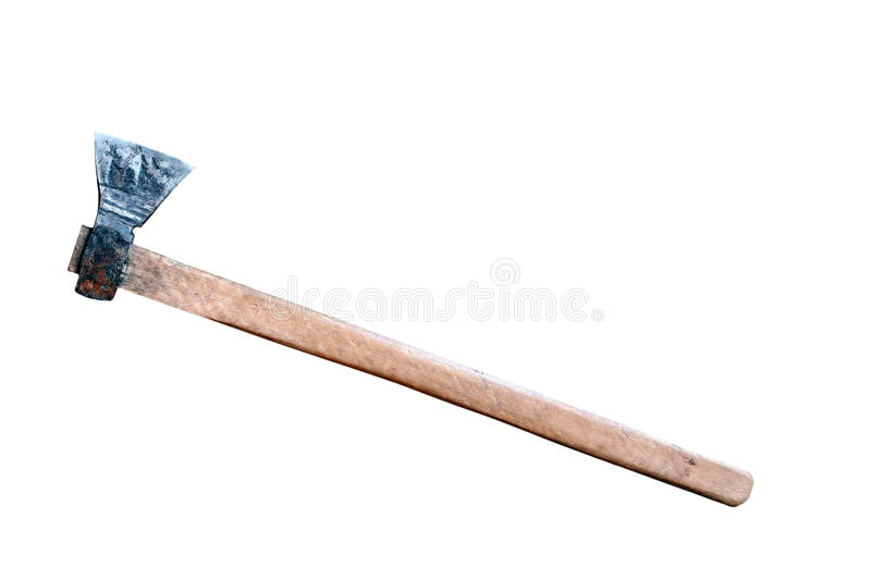 Download Massive ax over white stock image. Image of blade, hardwood - 28012619