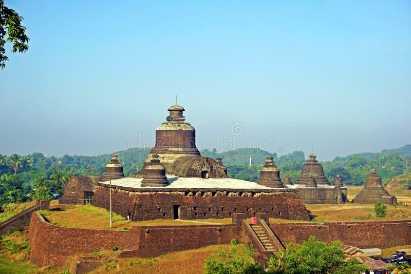Ancient Htukkhanthein temple, Mrauk U, Rakhine State, Myanmar royalty free stock photos