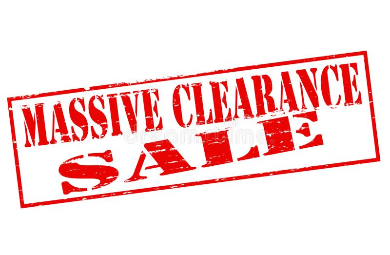Massive clearance sale. Rubber stamp with text massive clearance sale inside, illustration stock illustration
