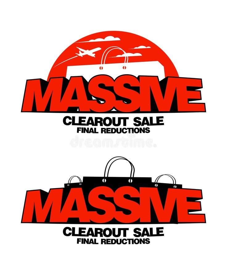 Massive clearout sale designs. Massive clearout sale design templates vector illustration