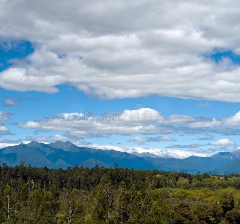 Massive Cloudy Sky Above The Wilderness Stock Photo