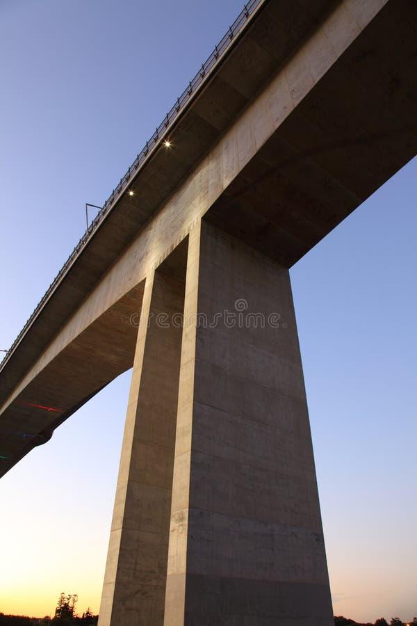 Massive Concrete Bridge support royalty free stock photography