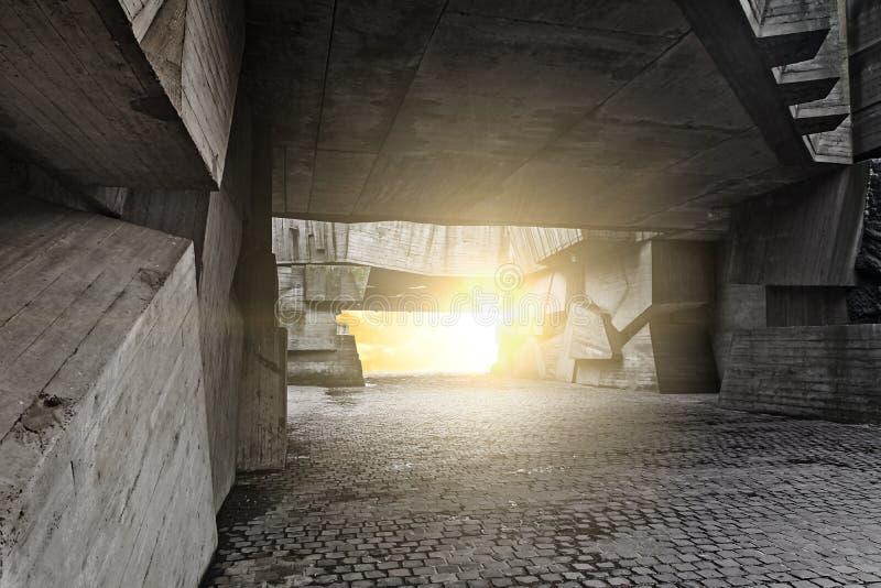 Massive concrete chunks stock photo