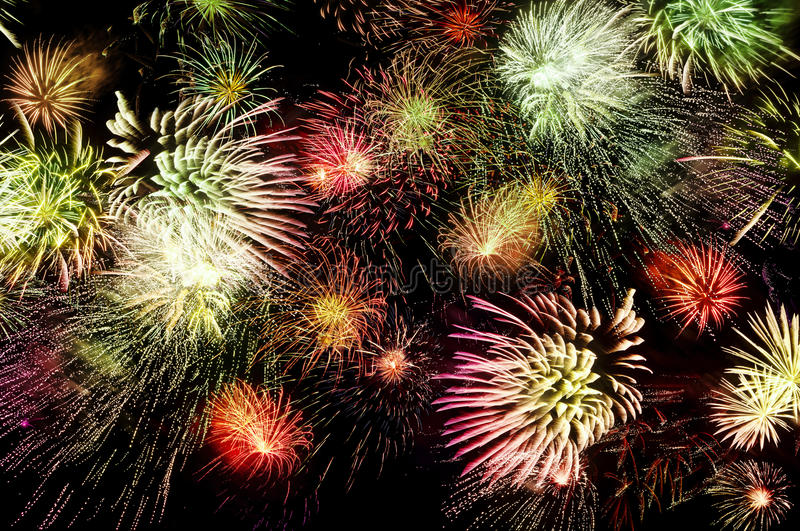 Download Massive Fireworks stock photo. Image of contemporary - 21636716