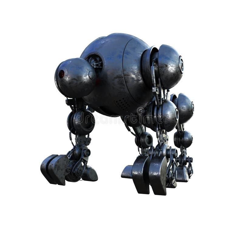 Massive futuristic tank. Massive futuristic robotic steel shell royalty free illustration