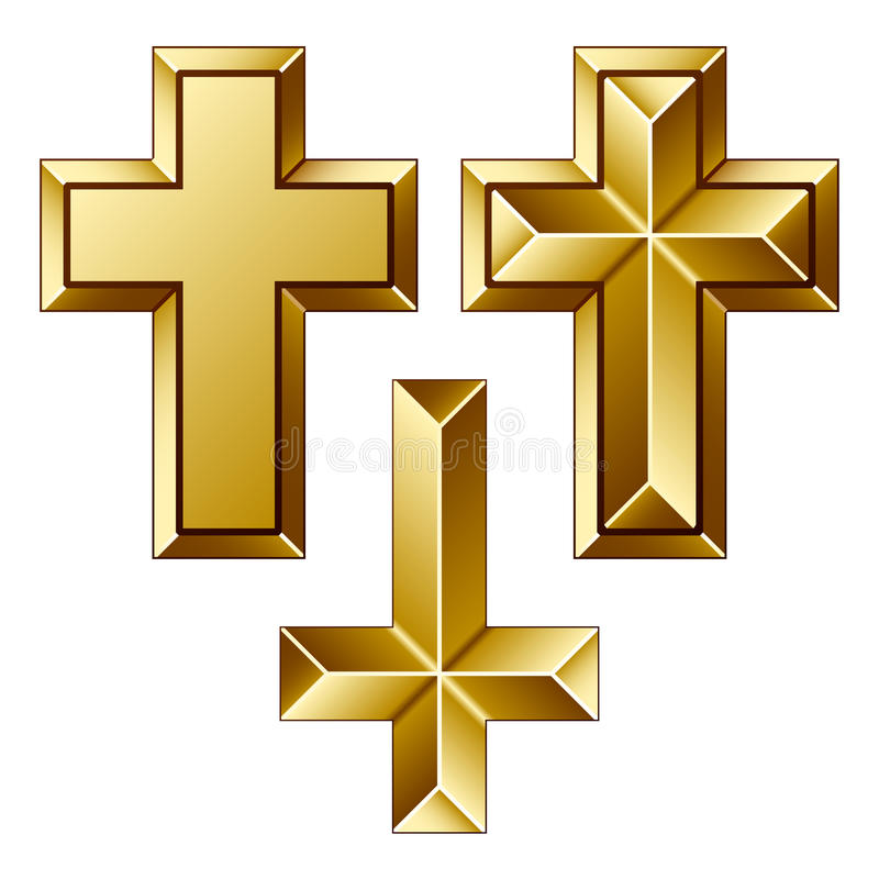 Download Massive Golden Christian Crosses Stock Vector - Illustration of golden, catholic: 22444332