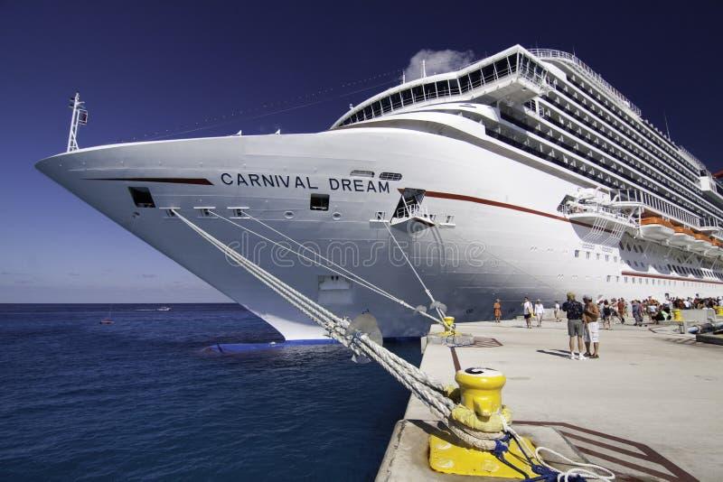 Massive New Cruise Ship - Carnival's Dream royalty free stock image