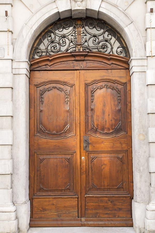 Oak door royalty free stock photos