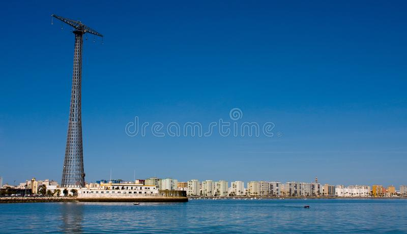 Download Massive Power Lines With Cadiz In Background Stock Photo - Image of communicaion, cadiz: 8902412