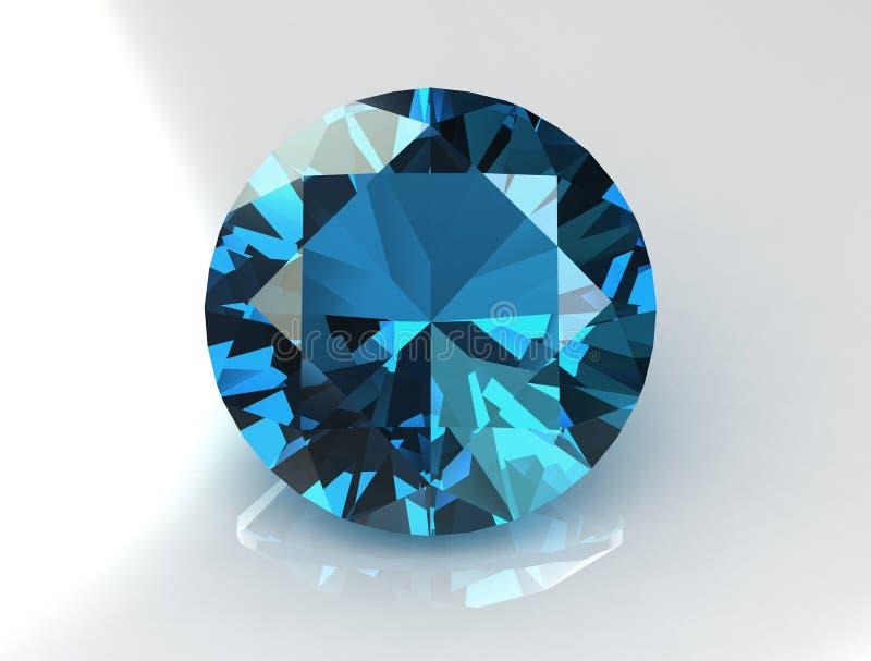 Massive Round Turquoise Topaz Gemstone. 3D vector illustration