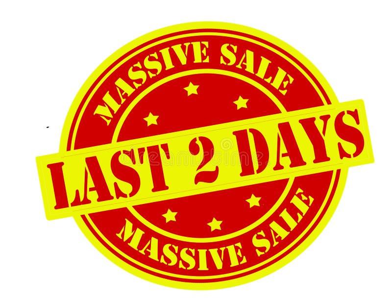 Massive sale. Rubber stamp with text massive sale inside, illustration royalty free illustration