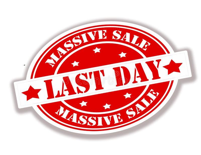 Massive sale. Rubber stamp with text massive sale inside, illustration stock illustration