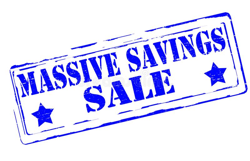 Massive savings. Rubber stamps with text massive savings inside, illustration vector illustration