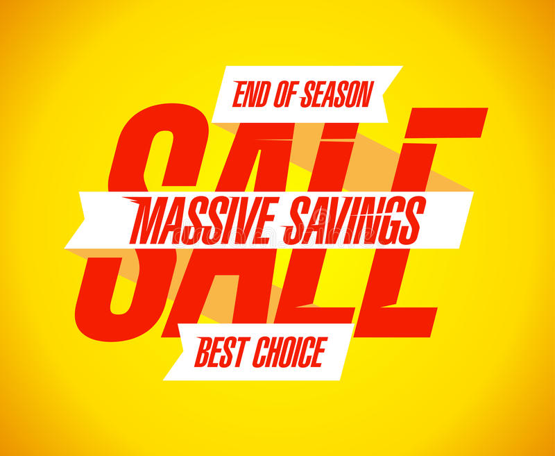 Massive savings sale banner. Massive savings sale banner template royalty free illustration