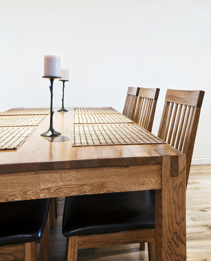 Download Massive wood dining table stock photo. Image of laminate - 18263034