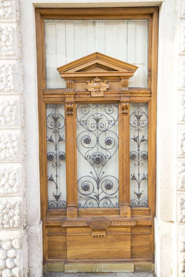Massive wooden door royalty free stock photography