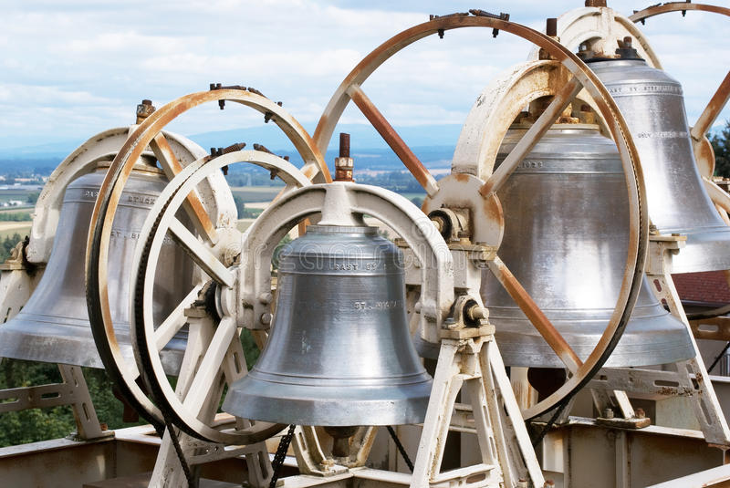 Massive Church Bells royalty free stock photo