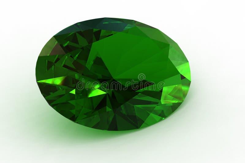 Massiver grüner ovaler Photorealistic Smaragd - übertragen Sie vektor abbildung