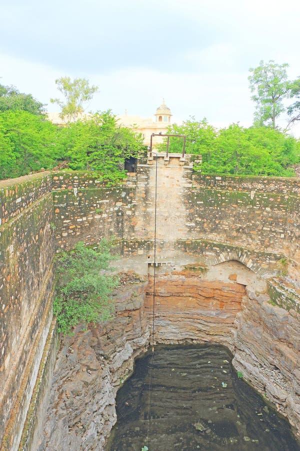 Massivt Chittorgarh fort och jordning rajasthan Indien arkivbilder