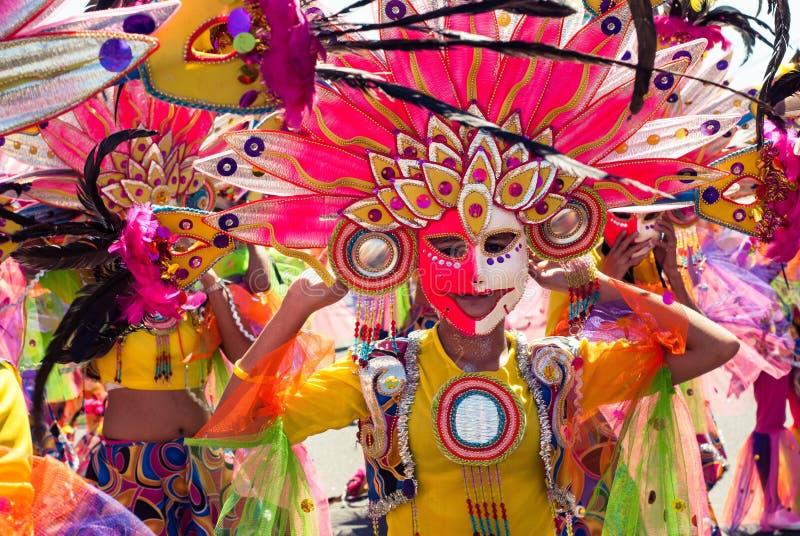 Masskara节日 巴科洛德市,菲律宾 库存照片