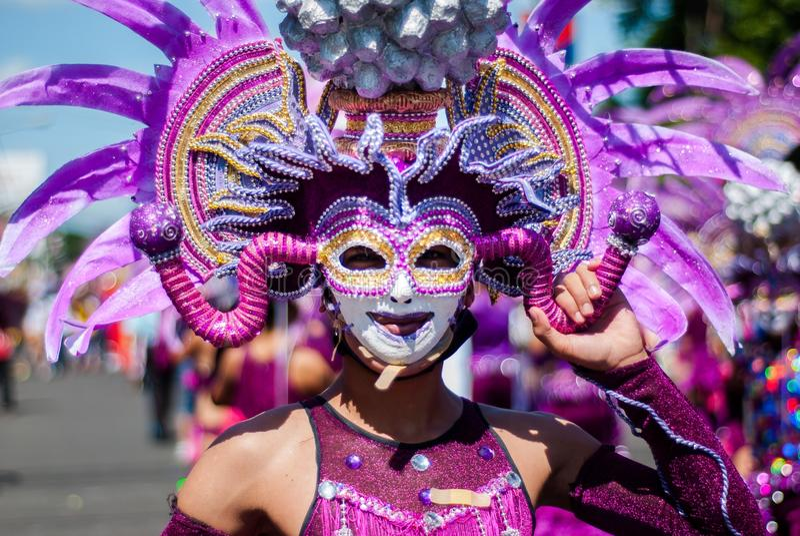 Masskara节日 巴科洛德市,菲律宾 免版税图库摄影