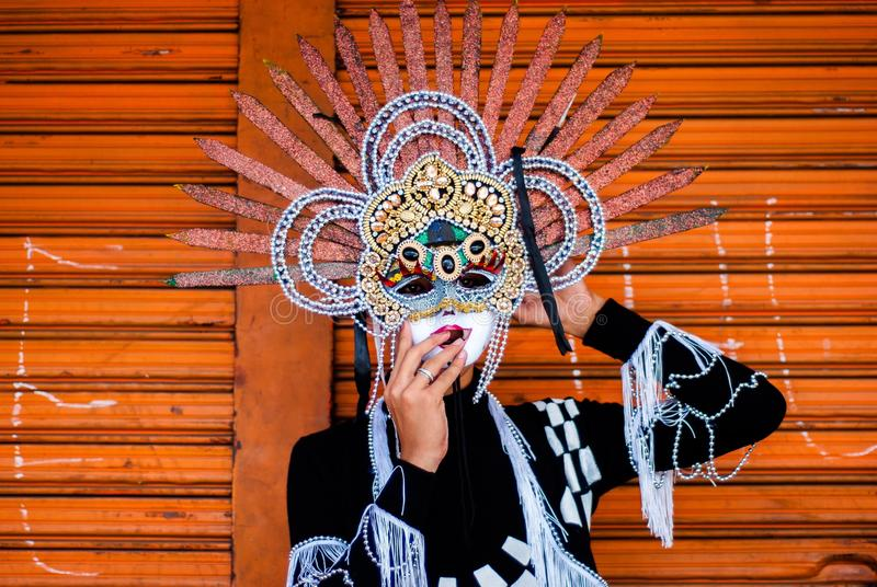 Masskara节日 巴科洛德市,菲律宾 免版税库存图片