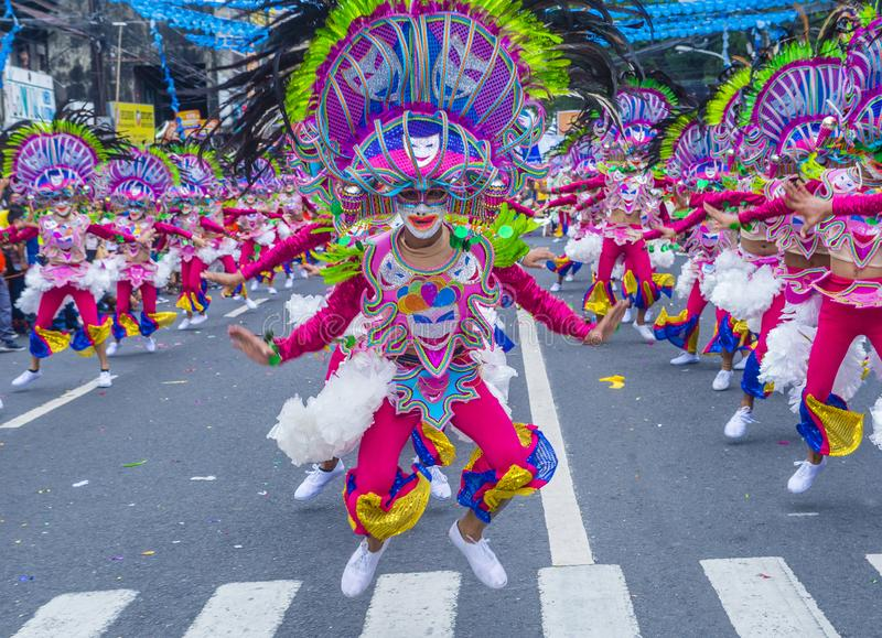 2018 Masskara festival. BACOLOD , PHILIPPINES - OCT 28 : Participants in the Masskara Festival in Bacolod Philippines on October 28 2018. Masskara is an annual royalty free stock images