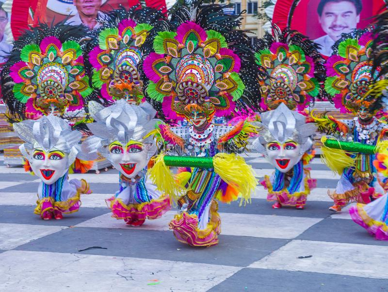 2018 Masskara festival. BACOLOD , PHILIPPINES - OCT 28 : Participants in the Masskara Festival in Bacolod Philippines on October 28 2018. Masskara is an annual royalty free stock photos
