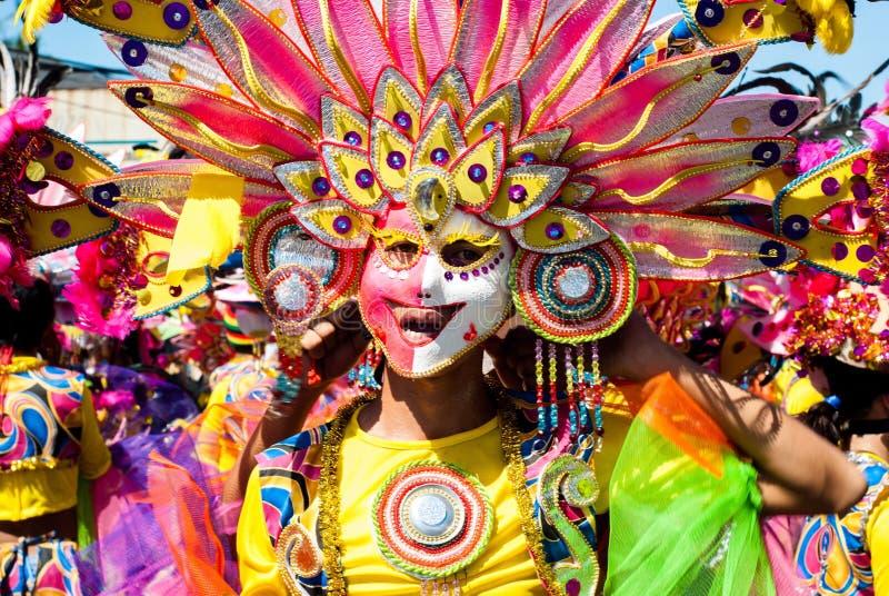 Masskara festival Bacolod stad, Filippinerna royaltyfri foto
