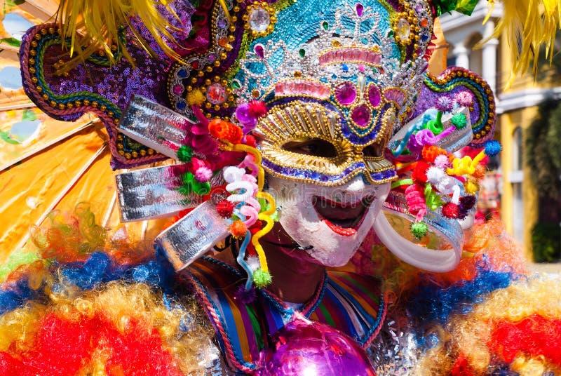 Masskara festival Bacolod stad, Filippinerna royaltyfri fotografi