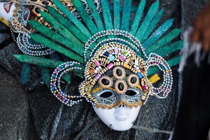 Masskara festival Bacolod stad, Filippinerna royaltyfria bilder