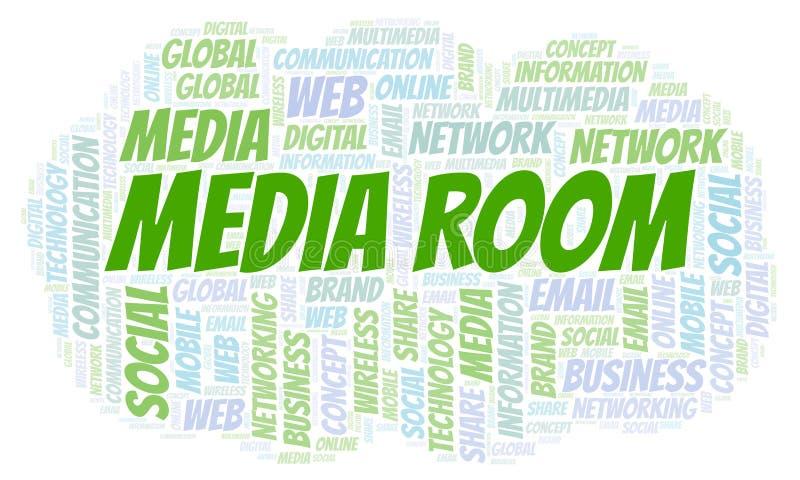 Massmedia hyr rum ordmolnet stock illustrationer