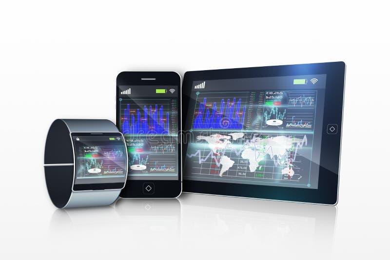 Massmediaapparater med manöverenhetsskärm vektor illustrationer