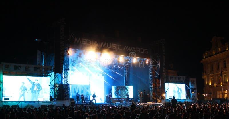 Massmediamusik tilldelar Hermannstadt 2014 Sibiu Rumänien arkivbilder