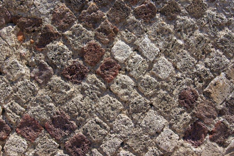 Massoneria antica dei mattoni a forma di diamante immagine stock