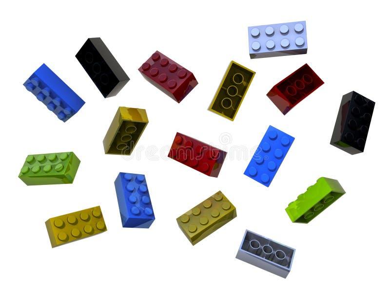 Massor av legokvarter vektor illustrationer