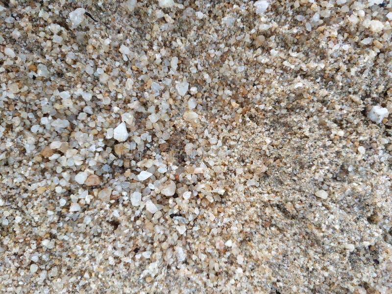 massor av våt sand och att vagga grus fotografering för bildbyråer