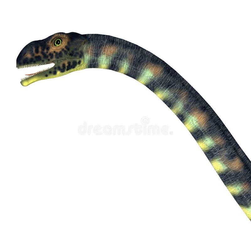 Massospondylus dinosauriehuvud vektor illustrationer