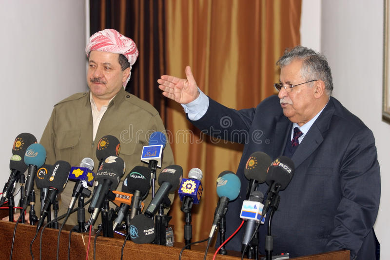 Massoud Barzani en Jalal Talabani royalty-vrije stock foto