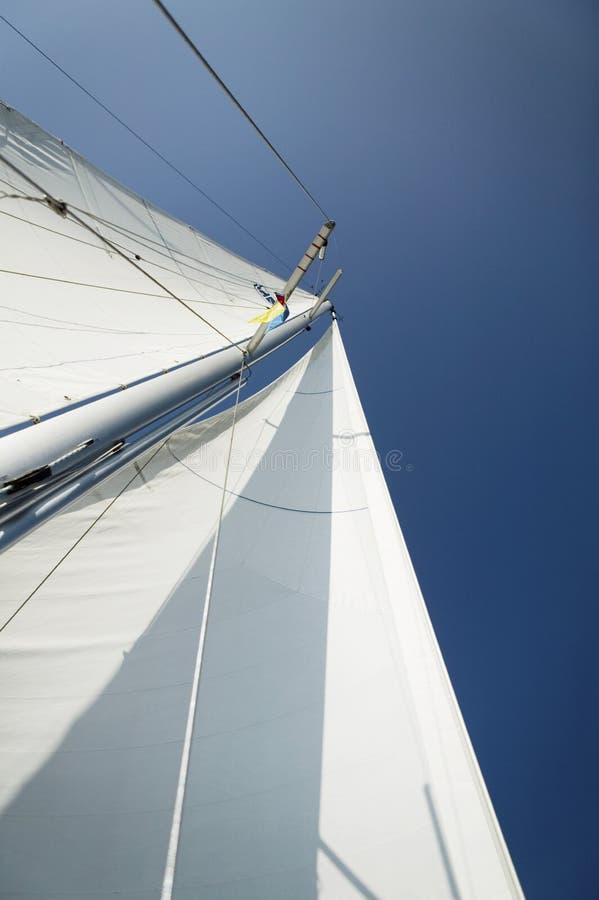 Mast av yachten arkivbilder