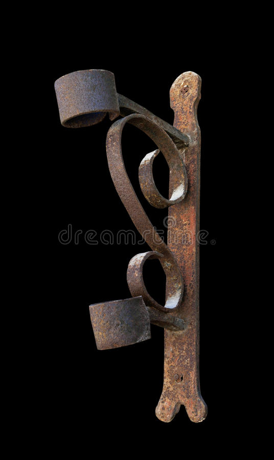 Download Mast for flag. stock photo. Image of curve, corner, rusty - 19867436
