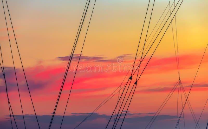 Mast Lines isoliert stockfotos
