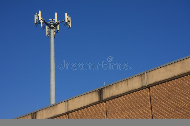 Download Mast on the roof stock image. Image of metal, broadcast - 14915471