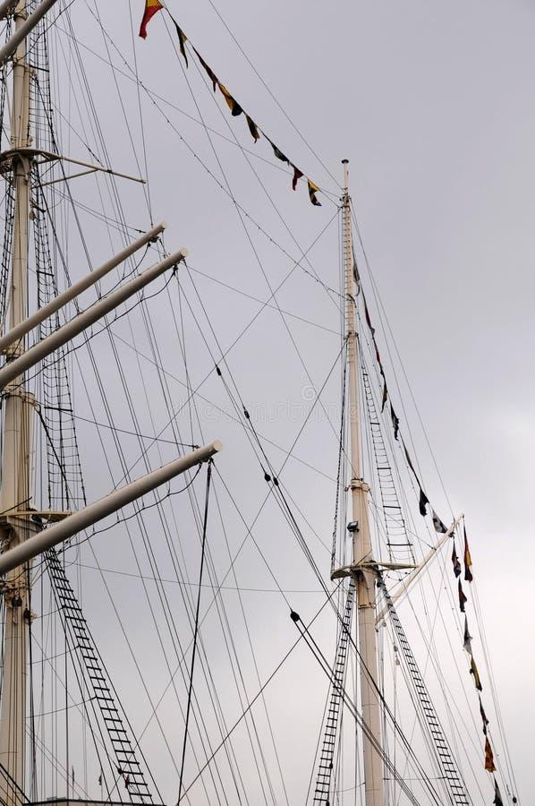 Download Mast Of A Sailing - Port Hamburg Stock Image - Image: 28789453
