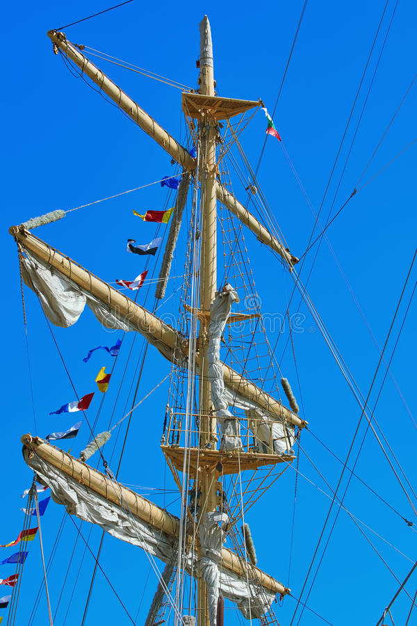 Mast of a Sailing Ship royalty free stock photos