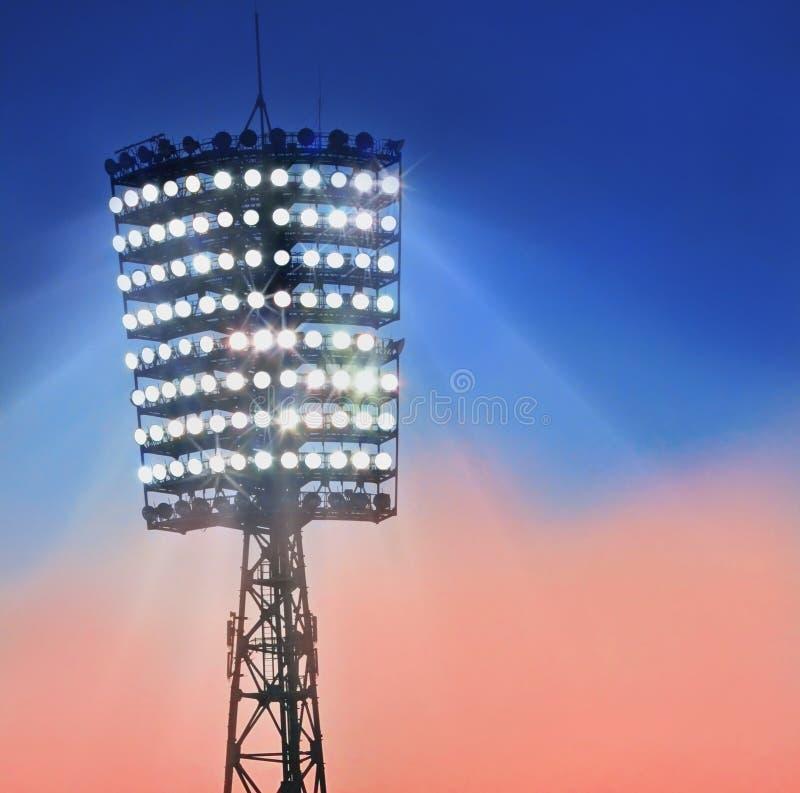 Mast with spotlights stock photo